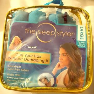 New, The sleep styler, large, heat free curler
